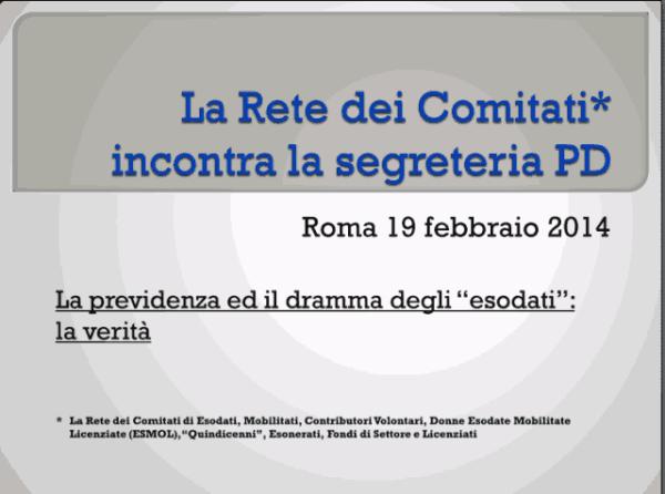 Incontro Rete - PD 19/02/2013 slide 1