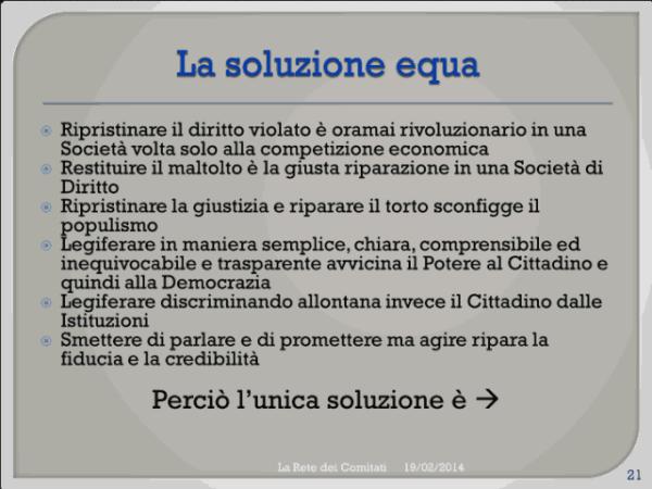 Incontro Rete - PD 19/02/2013 slide 21