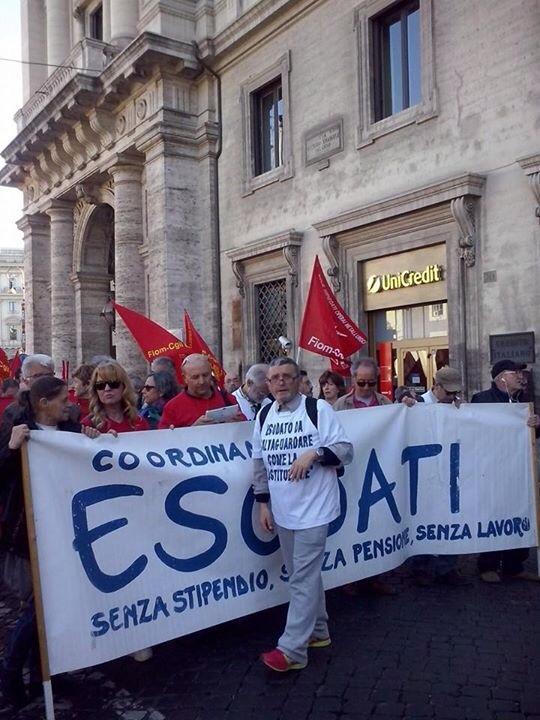 Esodati alla manifestazione Unions