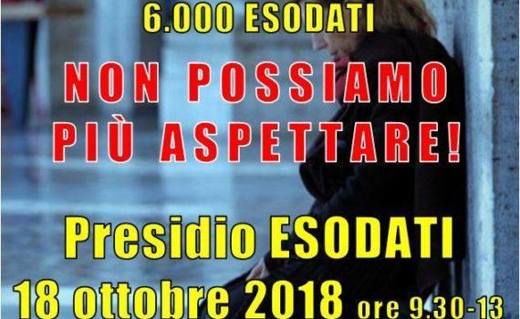 locandina presidio del 18-10-2018