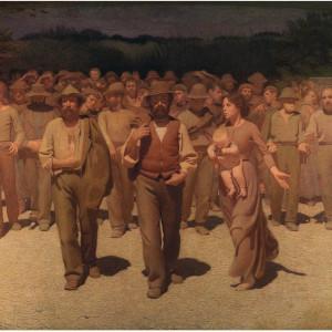 Il popolo in marcia - dipinto